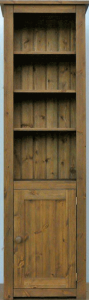 Hampshire pine corner bookcase with lower cupboard