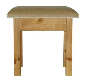 somerset pine stool with beige pad