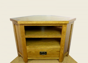 Tuscany Oak corner TV unit