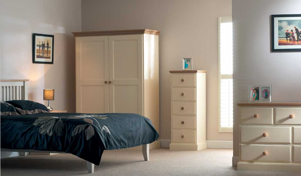 Devon Bedroom Furniture with Oak Tops