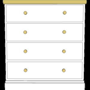 Devon 4 drawer chest