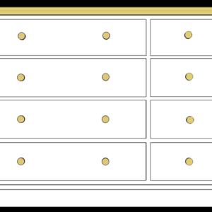 Devon 8 drawer Multichest