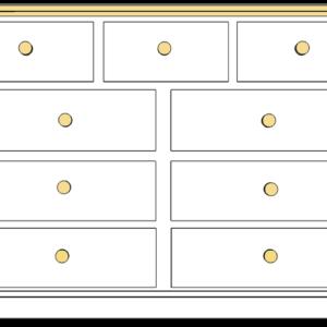 Devon 9 drawer multichest