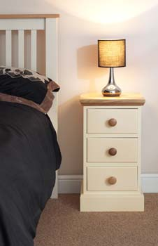 narrow bedside with 3 drawers