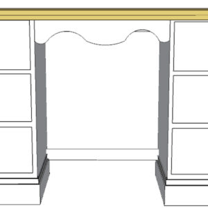 devon painted dressing table