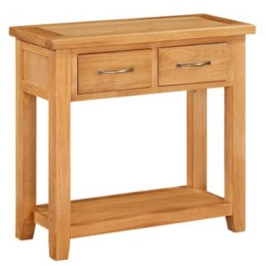 Richmond Oak 2 Drawer Console Table