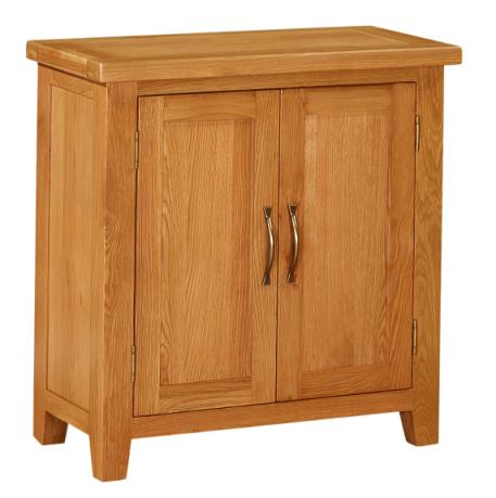 Attirant Richmond Oak 2 Door Small Cabinet