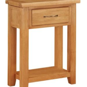 Richmond Oak Console Table with Drawer and Shelf