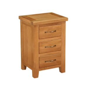 Richmond Oak Bedside with 3 drawers