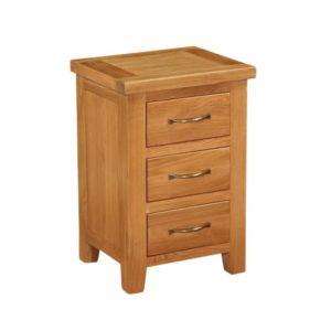 Richmond Oak Bedside with 3 drawers