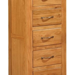 Richmond Oak Tall Chest with 5 Drawers