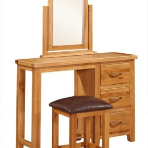 Richmond Oak Dressing Table with Stool