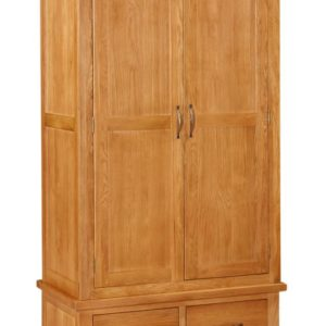 Richmond Oak Double Wardrobe with Drawers