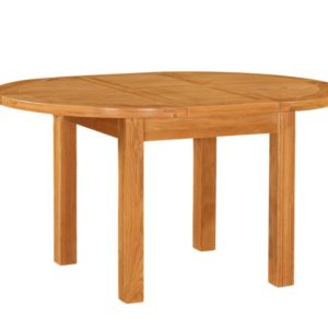 richmond round oak extending table 1100