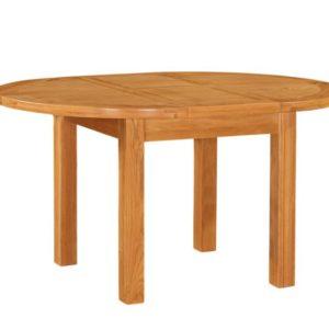 richmond round oak extending table 1100