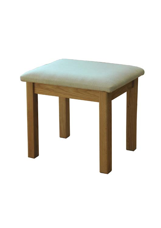 Siena Oak Stool With Cream Pad