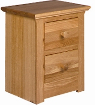 Siena Oak 2 drawer bedside