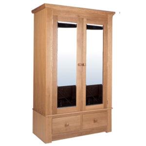 Siena Oak Wardrobe with Drawers