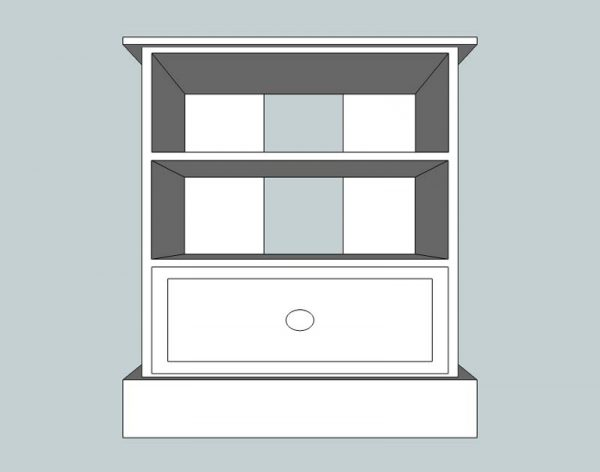 Somerset Pine Small TV Unit with Drawer
