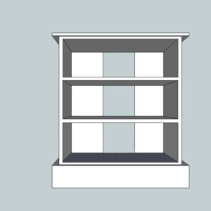 Somerset Pine Small 3 Shelf TV Unit