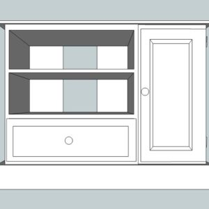 Somerset Pine Large TV Unit with Drawer & Door