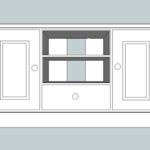 Somerset Pine Widescreen TV Unit with Drawer & Doors