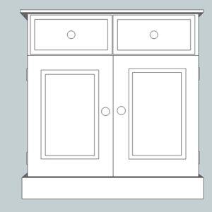 Somerset Pine 2 Door Sideboard