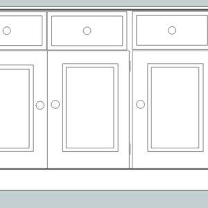 Somerset Pine 3 Door Sideboard