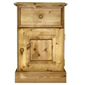 Somerset Pine 1 Drawer 1 Door Bedside