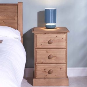 Somerset Pine 3 Drawer Bedside