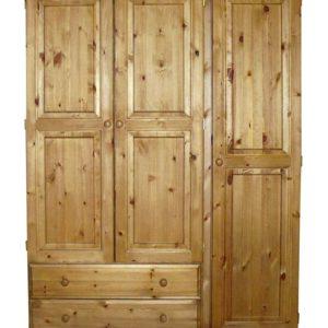 Somerset Pine 3 door 2 drawer wardrobe