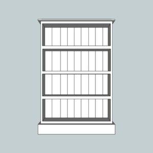 Somerset Pine Medium Bookcase (Deep)