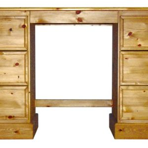 Somerset Pine Double Pedestal Dressing Table