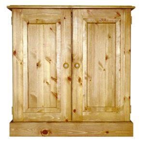 Somerset Pine Small Vanity Unit with Shelf
