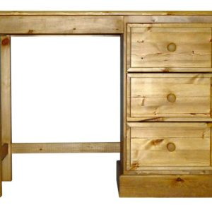 Somerset Pine Single Pedestal Dressing Table