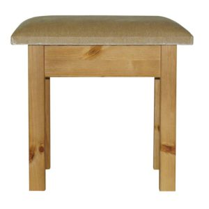 Pine Stool with Padded Seat