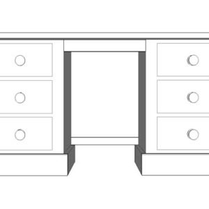 Double Pedestal Dressing Table