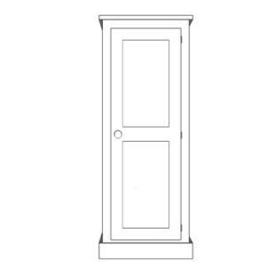 Sussex Pine 1 Door Wardrobe