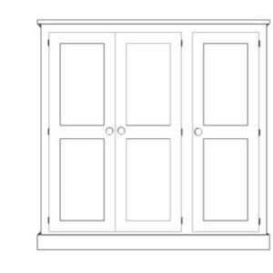 Sussex Pine 3 Door Triple Wardrobe 1875w