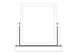 Sussex Pine Single Swing Mirror