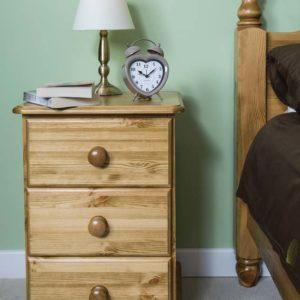 Wiltshire Pine 3 Drawer Bedside