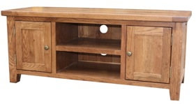 Tuscany oak large TV unit
