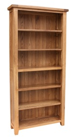 Tuscany oak 6ft bookcase