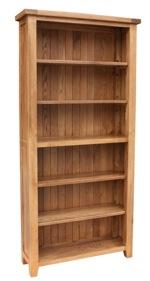 Tuscany oak 6ft bookcase