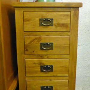 Tuscany Oak tall 5drawer