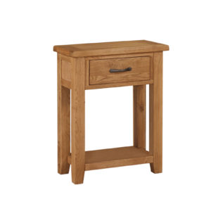 1 drawer console oak