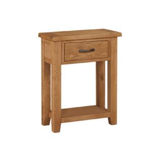 1 drawer console oak