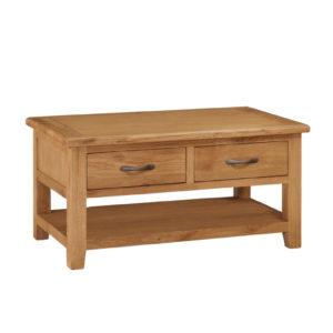 Twickenham Oak Coffee Table with Drawers