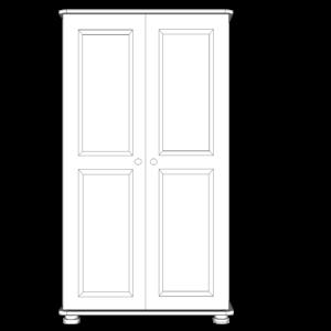 Wiltshire Pine Junior 2 Door All Hanging