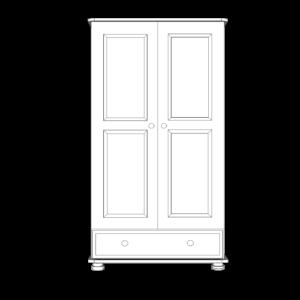 Wiltshire Pine Junior 2 Door 1 Drawer